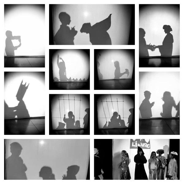 Stage pour enfant sur le théâtre d'ombre